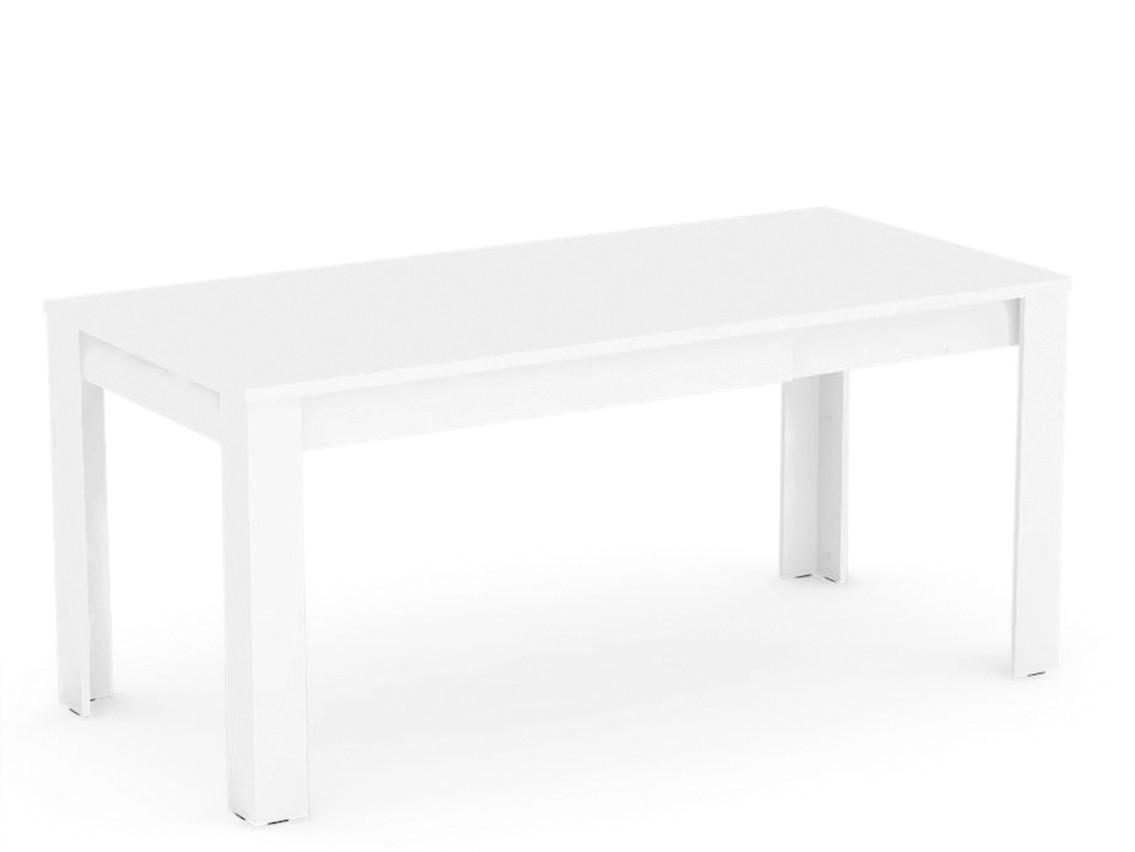 DREVONA09 Rozkladací jedálenský stôl biely EXTE