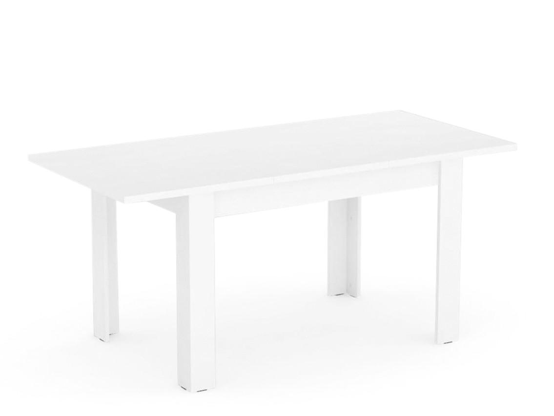 DREVONA09 Rozkladací stôl biely TABLE 2