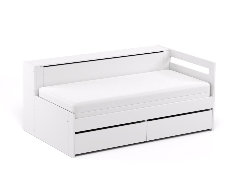 DREVONA09 Rozkladacia posteľ CROBAT biela