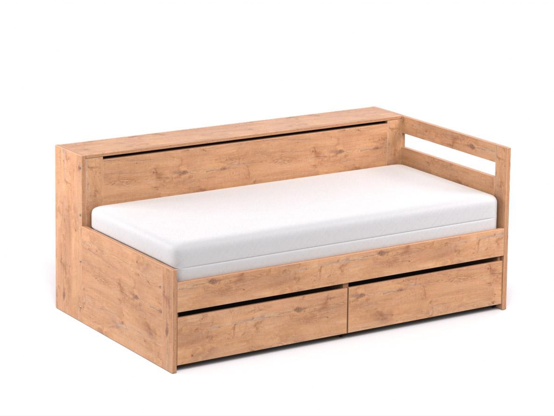 DREVONA09 Rozkladacia posteľ CROBAT dub lancelot