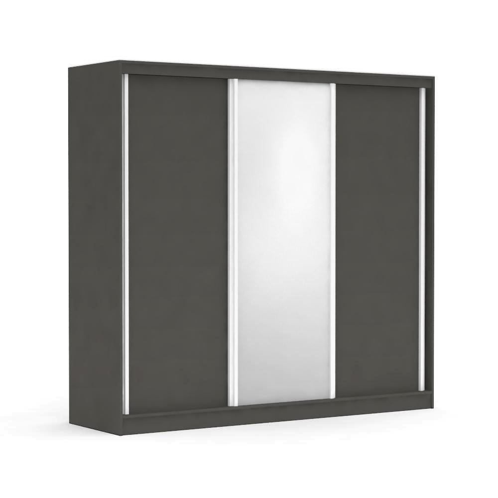 DREVONA09 Skriňa s posuvnými dverami a zrkadlom šedá ATLANTA 3