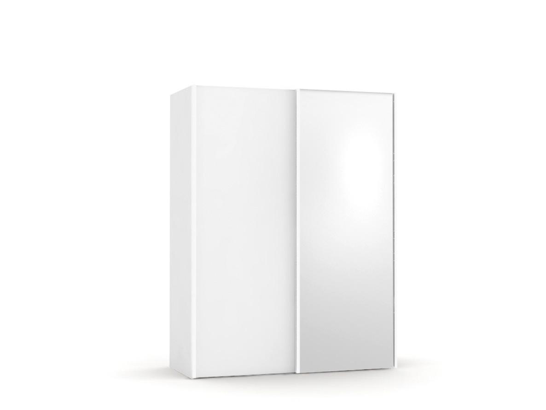 DREVONA09 Skriňa so zrkadlom biela REA HOUSTON 1 ZR