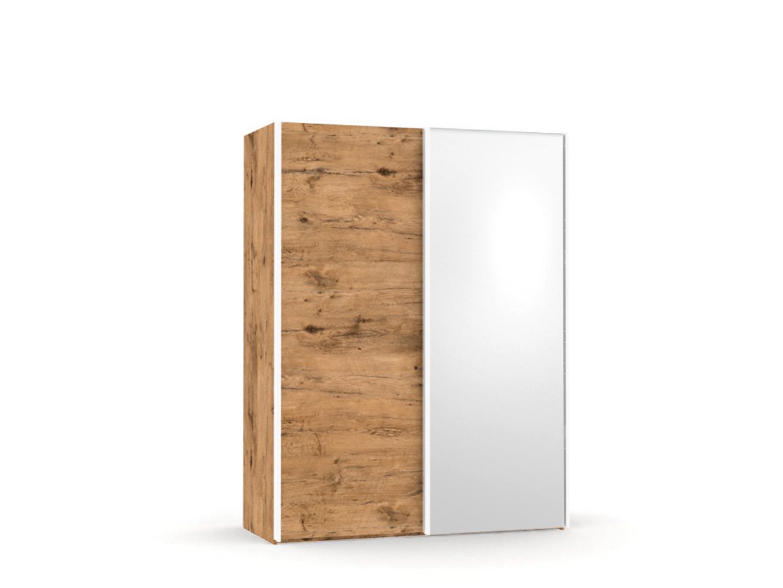 DREVONA09 Skriňa so zrkadlom dub lancelot REA HOUSTON 1 ZR