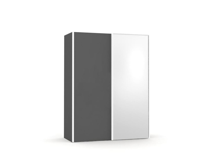 DREVONA09 Skriňa so zrkadlom šedá REA HOUSTON 1 ZR