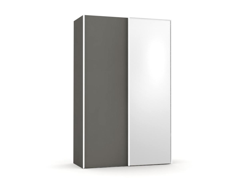 DREVONA09 Skriňa + zrkadlo šedá REA HOUSTON 4 ZR