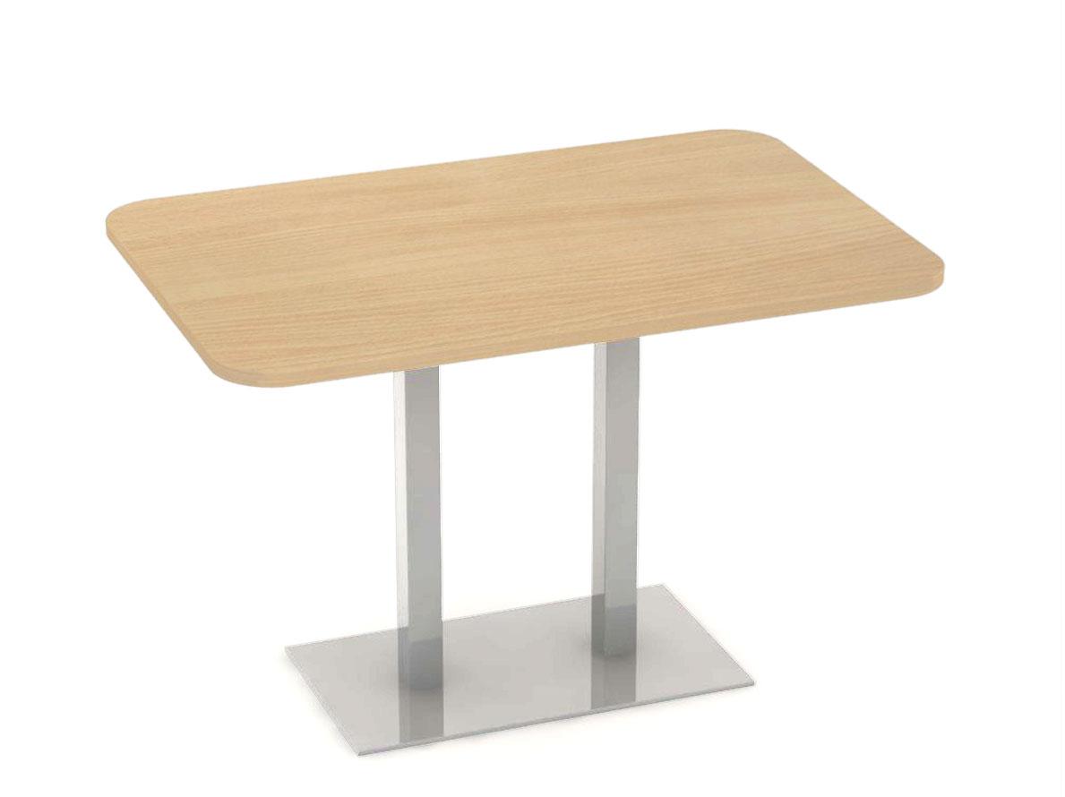 DREVONA09 Stôl 120 x 80 buk + nerez podnož REA FLAT 6