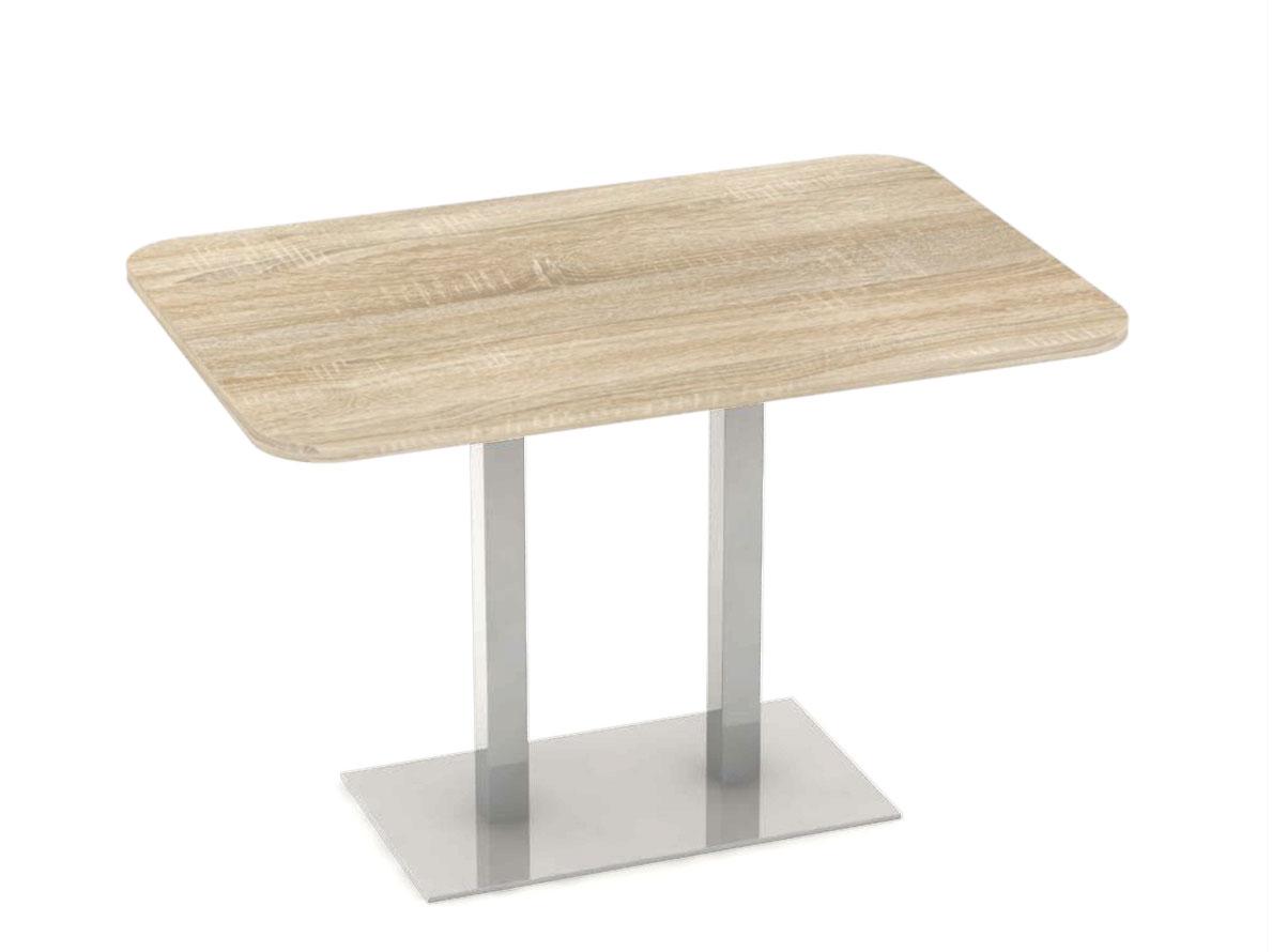 DREVONA09 Stôl 120 x 80 dub bardolíno + nerez podnož REA FLAT 6