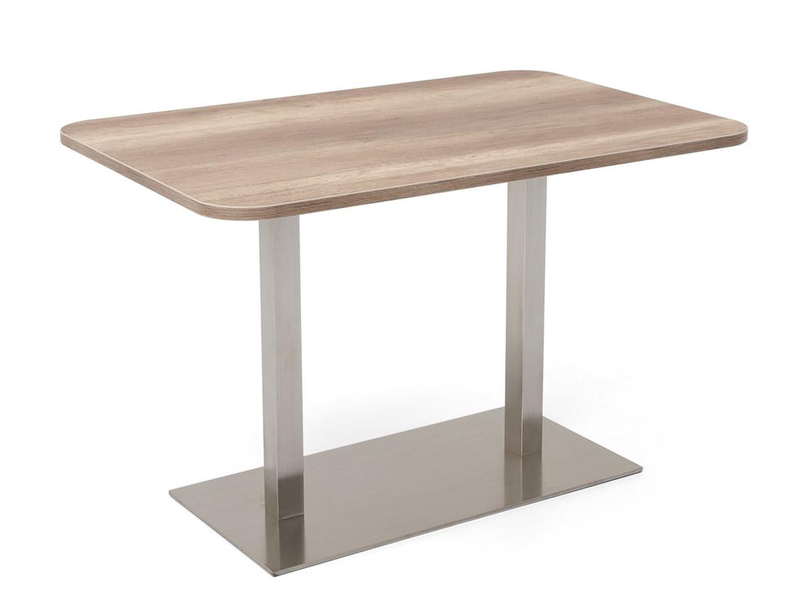 DREVONA09 Stôl 120 x 80 dub canyon + nerez podnož REA FLAT 6