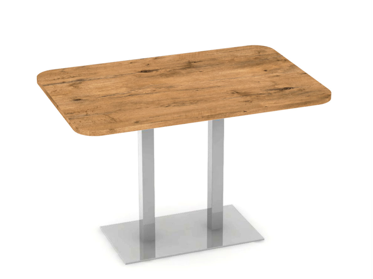 DREVONA09 Stôl 120 x 80 dub lancelot + nerez podnož REA FLAT 6