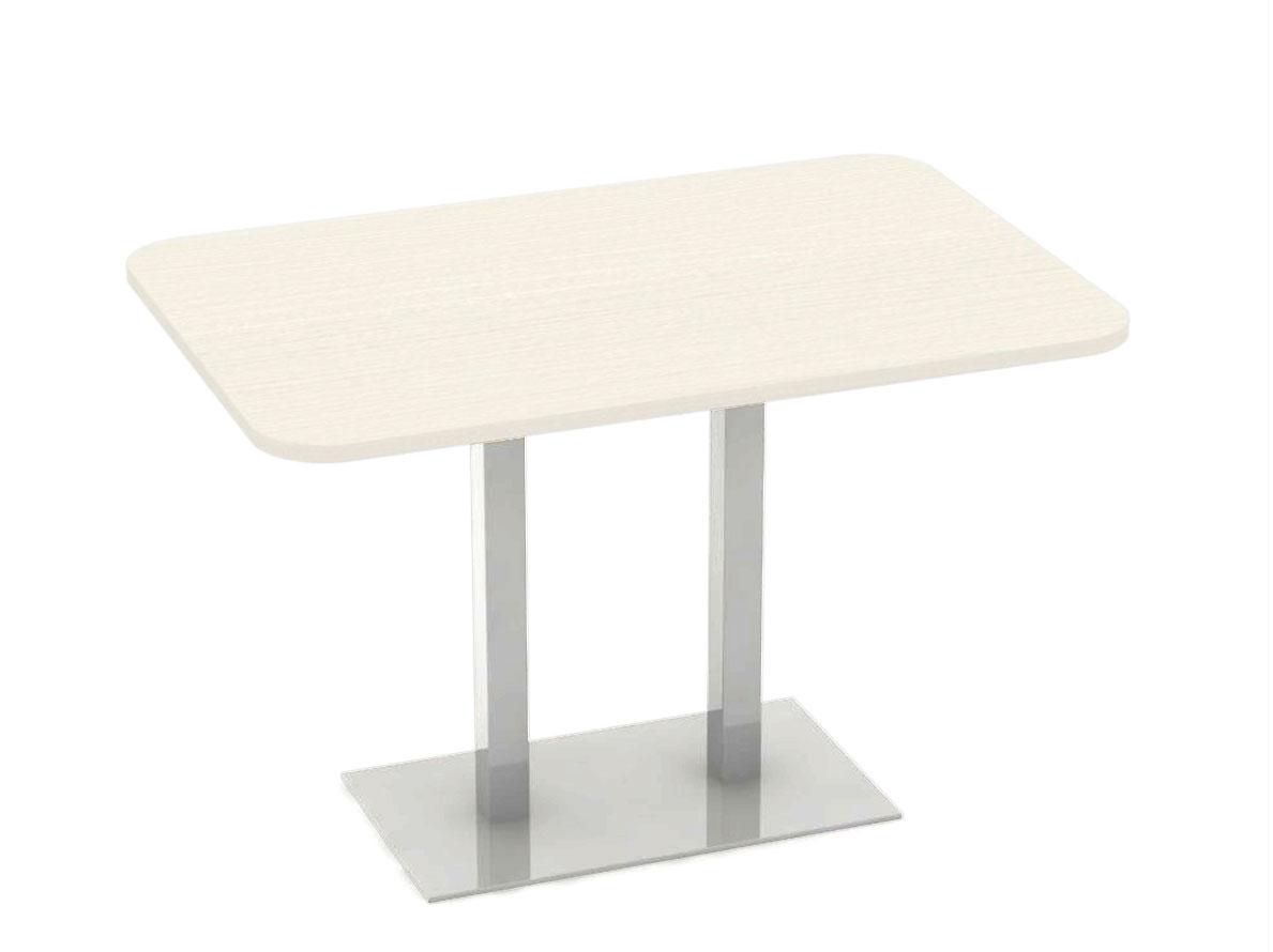 DREVONA09 Stôl 120 x 80 navarra + nerez podnož REA FLAT 6