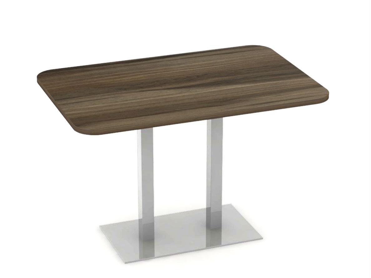 DREVONA09 Stôl 120 x 80 orech rockpile + nerez podnož REA FLAT 6