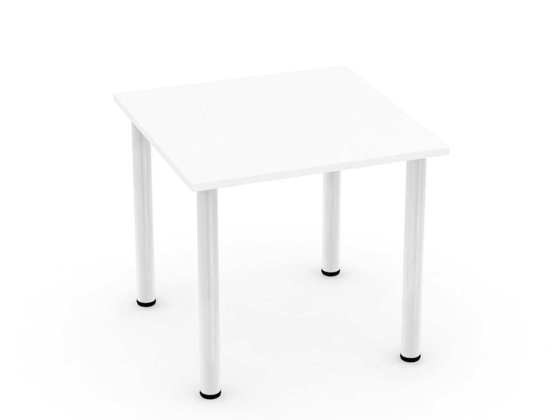 DREVONA09 Stôl 80 x 80 biely 4 nohy REA FLAT 1