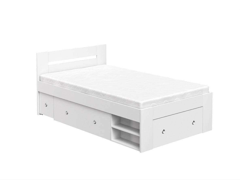 DREVONA09 Študentská posteľ 120 biela REA LARISA