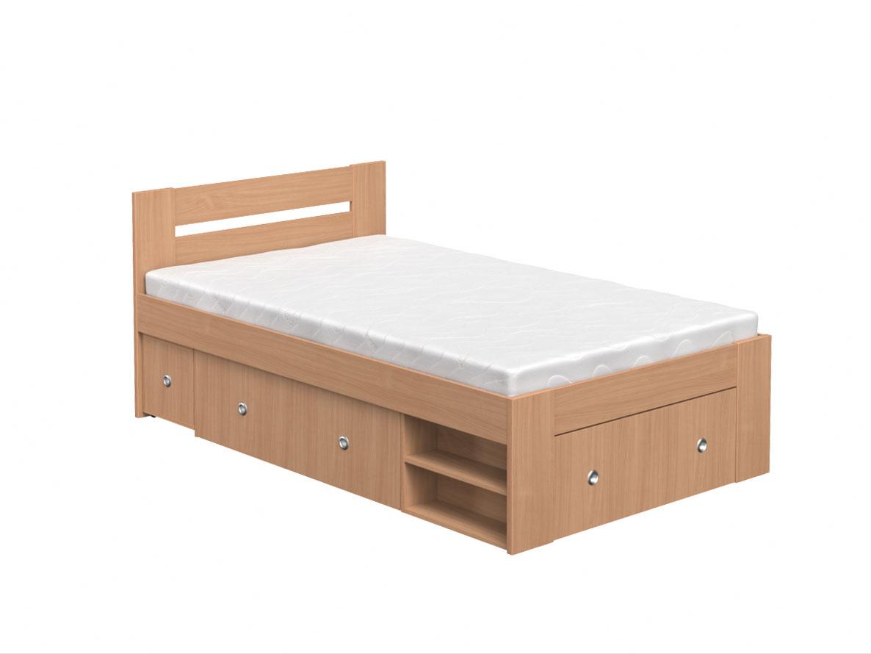 DREVONA09 Študentská posteľ 120 buk REA LARISA