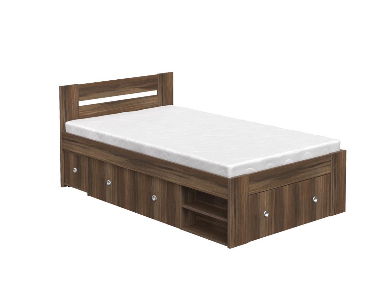 DREVONA09 Študentská posteľ 120 orech rockpile REA LARISA