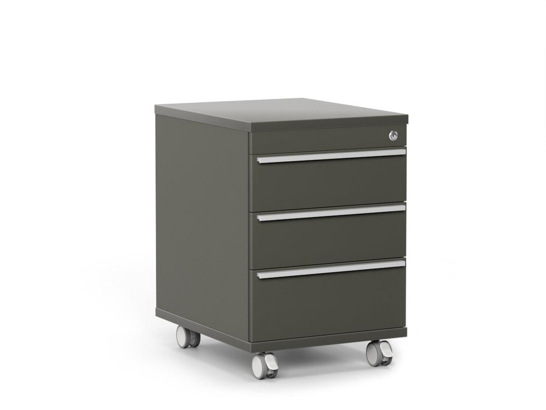 DREVONA09 Šuflíkový kontajner so zámkom šedý RP KN 3