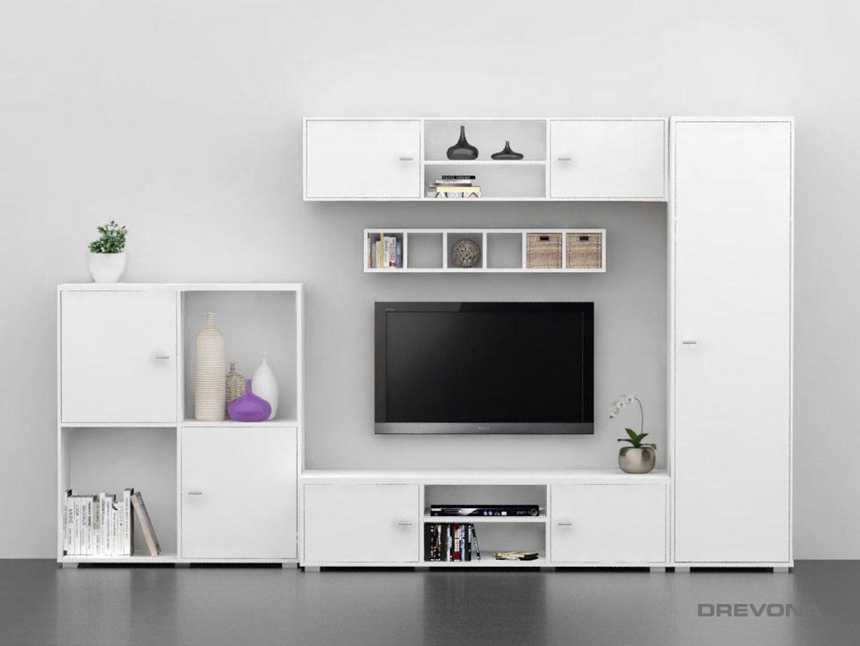 Obývacia stena biela REA DENISA UP č.1