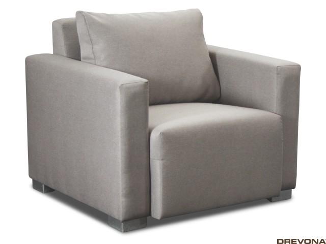 Pohodlné kreslo sivé STACY