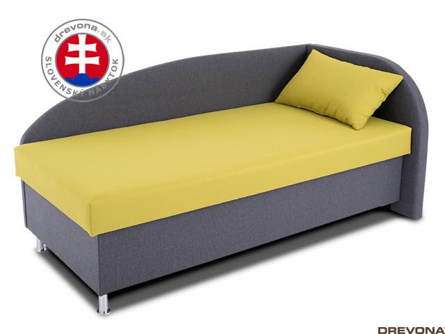 Pohovka na spanie pravá sivozelená NAVI