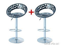 Barové stoličky čierne plastové ORIA