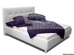 Čalúnená posteľ biela PENELOPE 6