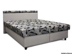 Čalúnená posteľ metalická sivá EDITA