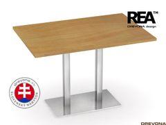 Jedálenský stôl 120 x 80 buk nerez FLAT 2