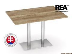 Jedálenský stôl 120 x 80 dub canyon FLAT 2