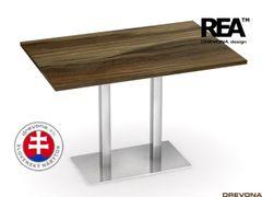 Jedálenský stôl orech rock. nerez FLAT 2