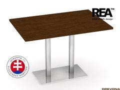 Jedálenský stôl 120 x 80 wenge REA FLAT 2