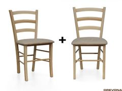 Kuchynské stoličky buk + béžová NEVADA (2ks)