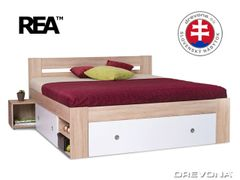 Manželská posteľ dub bard. biela LARISA