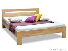 Manželská posteľ z masívu buk 180x200 MATE