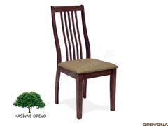 Pevná stolička masív orech BELLA