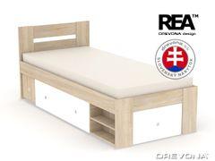 Študentská posteľ 90 dub b + biela LARISA