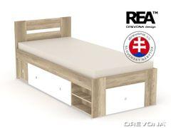 Študentská posteľ 90 dub c + biela LARISA