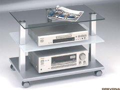 TV stolík DISC I, strieborný