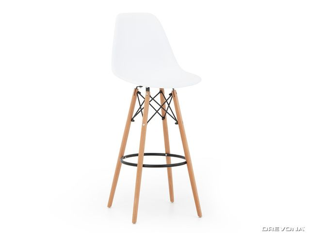 Barová stolička biela H-51