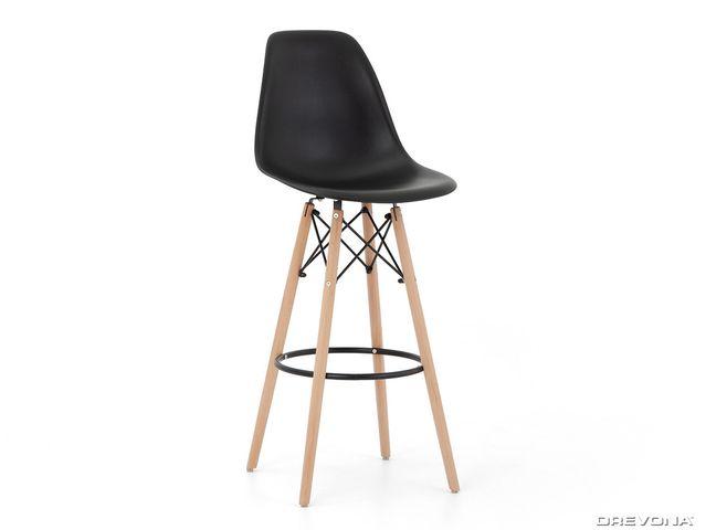 Barová stolička čierna H-51