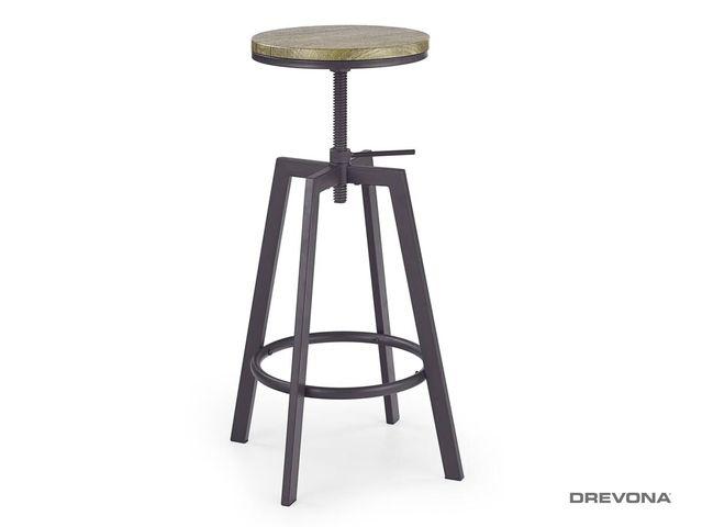 Barová stolička čierna H-64 coffee