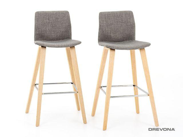Barová stolička šedá H-80
