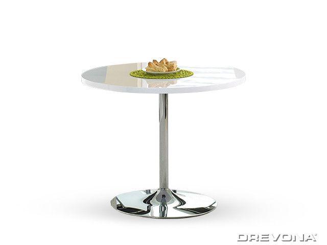 Barový stôl biely 90 cm OMAR