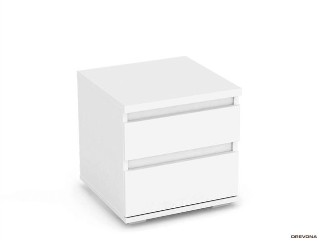 Biely nočný stolík REA AMY 1