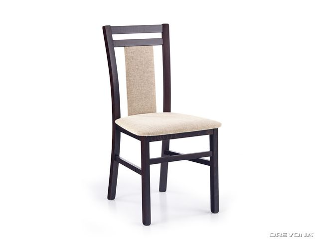 Drevená stolička jedálenská tmavé wenge a béžová HUBERT 8 Vila 2