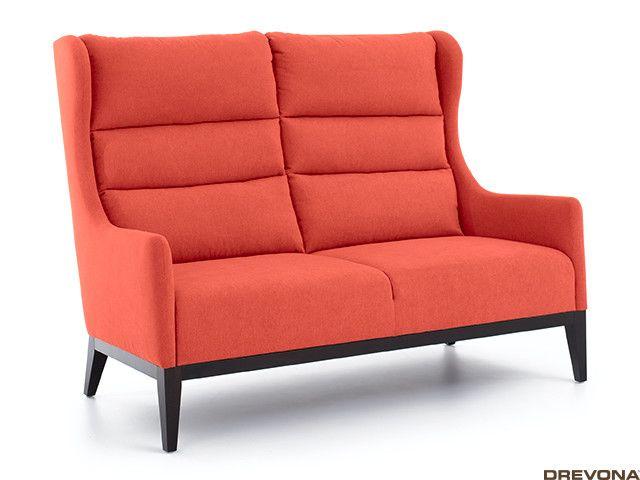 Dvojkreslo ušiak oranžový + wenge nohy AVA HOLLY 2,5ALR Soro 51