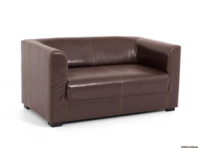 Dvojsedačka hnedá textilná koža CAFF