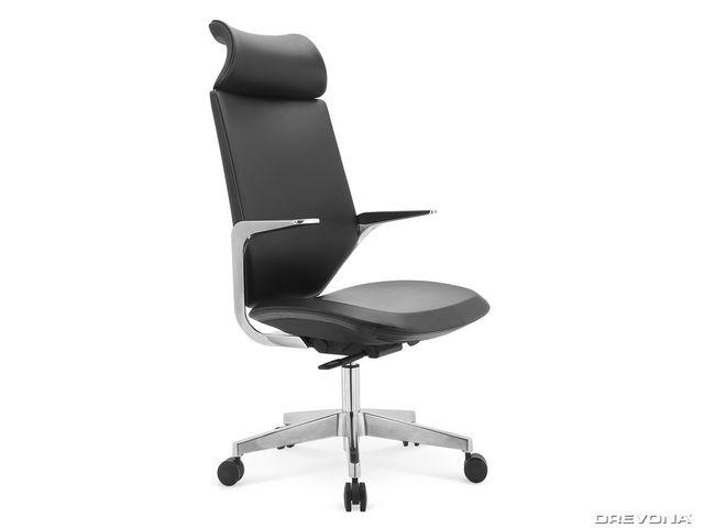 Elegantné kancelárske kreslo čierne GENESIS