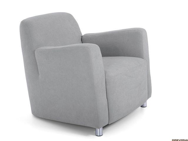 Fotel bledošedý AVA PIXY 1 (Soro 90)