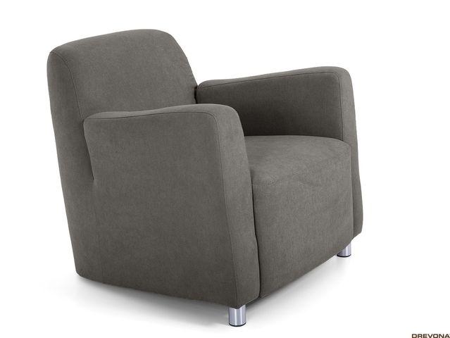 Fotel hnedo šedý AVA PIXY 1 (Soro 91)