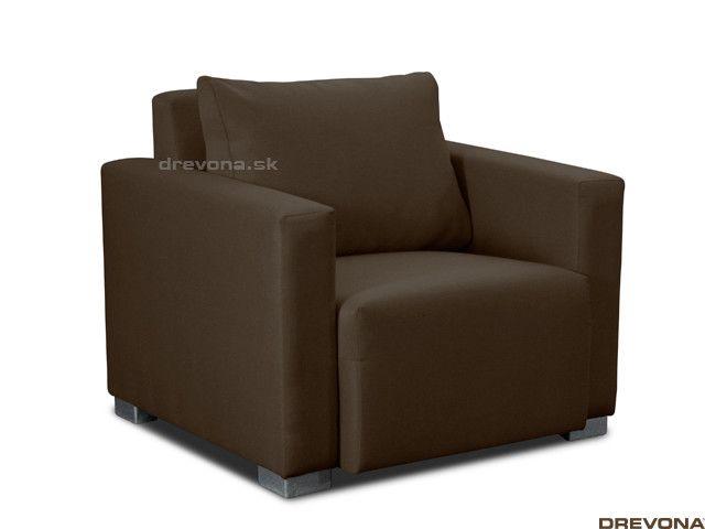 Fotela hnedá látka STACY